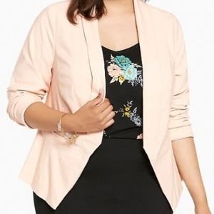 Torrid Pale Blush Cut Away Fit Blazer SZ 00